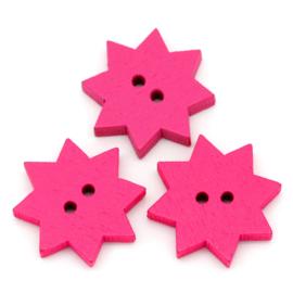 Roze Sterren 19mm