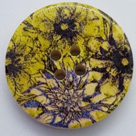 Knopen met Groen Paars Rode Bloemen 30mm