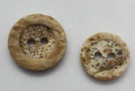 Bruine Creme Knoop 12 & 15 mm