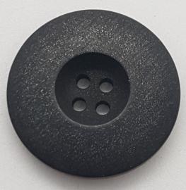 Donker Grijze Knoop met 4 Gaatjes 28mm