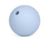 Licht Blauwe Silicone Kralen 9mm (5 Stuks)