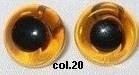 Bruin Gele Glazen Amigurumi & Beren Ogen 8mm (2 stuks)