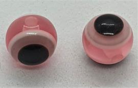 Boze oog kralen 8mm licht Roze