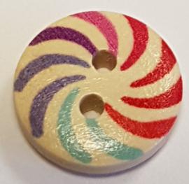 Gekleurde Ronde Houten Knopen 15mm