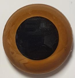 Veiligheidsogen Mokka 15mm (2 stuks)