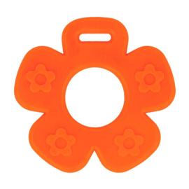 Bijtring - Bloem met noppen - Oranje