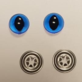 Blauwe Doorzichtige Kwaliteits Kattenogen 12mm