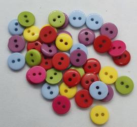 40 Gekleurde Knoopjes 9mm