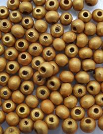 6mm Ronde Gouden Kralen (50stuks)