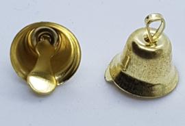 Goud Kleurige Belletjes Bel 8mm (5 stuks)