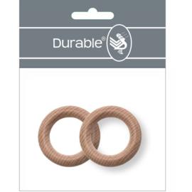 2 Durable Beukenhouten Bijtring 40 mm