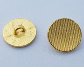 Goudkleurige Metalen Knoop 15mm