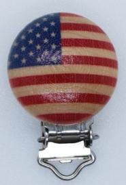 Houten Speenclip Amerikaanse Vlag