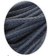 Wax koord 1mm  Donker Grijs