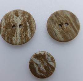 Steenachtige Beige Bruine Knoop 15, 20, 23mm