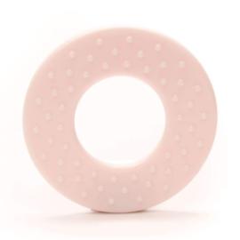 Durable Bijtring - Rond met noppen  - Light Pink 749