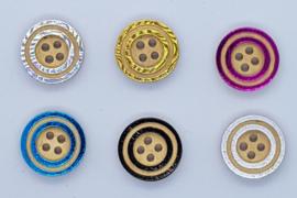 Knopen met een dubbele rand 15 mm