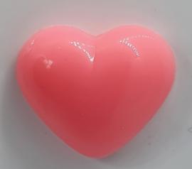 Veiligheidsneus Fel Roze Hartje 18 mm