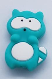 Siliconen Kraal Wasbeer Groen Blauw