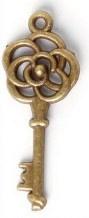 Sleutel Brons Kleurig 28 x 11mm