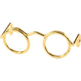 Bril voor Knuffels Goud 2,5cm