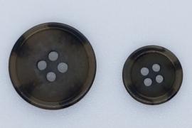 Donker Bruin Grijze Knoop 15 & 22mm