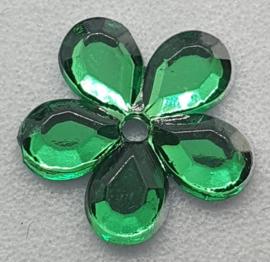 Groene Bloemen Pailletten 10mm