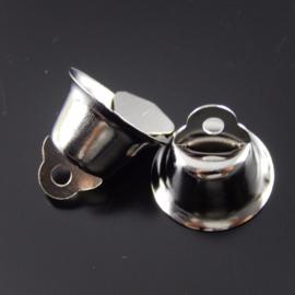 Zilverkleurige Belletjes Bel 14mm (5 stuks)