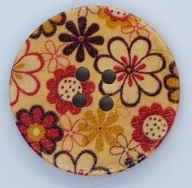 Knopen met Gekleurde Bloemen 30mm