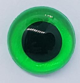 Veiligheidsogen Doorzichtig Groen 14mm (2 stuks)