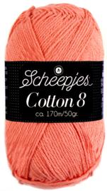 Scheepjes Cotton 8 nr 650 Donker Zalm Roze