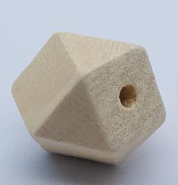 Blank Houten Hexagon Kraal 18mm