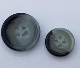 Grijs Zwarte Knopen 15 & 20 mm