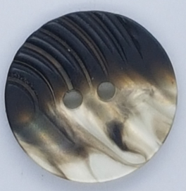 Zwarte Parelmoer Knopen 23mm