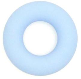 Siliconen Bijtring Rond 43mm - Licht Blauw