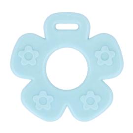 Bijtring - Bloem met noppen - Licht Blauw