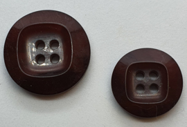 Donker Bruine Knoop 20 & 25mm