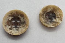Beige Witte Knoop II 15 &18 mm