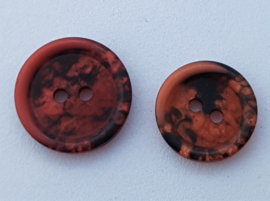 Rood Zwarte Knopen 15 & 18 mm