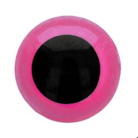 Veiligheidsogen Roze 6mm (2 stuks)