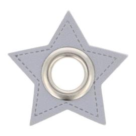 Nestel op grijs Skai-Leer 11mm zilver ster