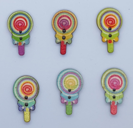 Lolli Knopen 25 x 14 mm