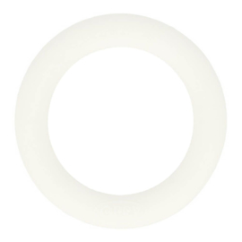 Opry Siliconen Bijtring Rond 55mm - 009 Wit