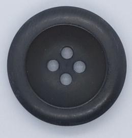 Zwarte Knoop 22mm