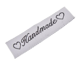 Stoffen Handmade Labels 6x1,5 cm (5 stuks)