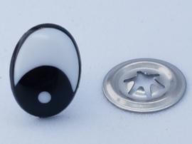 Veiligheids Ogen Ovaal Wit 8, 10,12 &15 mm per paar