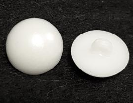 Witte Halfronde Knopen 17mm