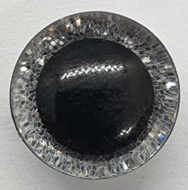 Zilveren Sparkle Glitter Veiligheids Ogen 12 mm II