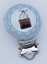 Houten Speenclip Cupcake 1