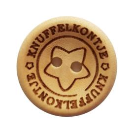 Blank Houten Knoop Knuffelkontje 20mm (4 stuks)